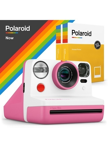 Polaroid Polaroid Now Pembe Instant Fotoğraf Makinesi ve 16'lı Film Hediye Seti Pembe